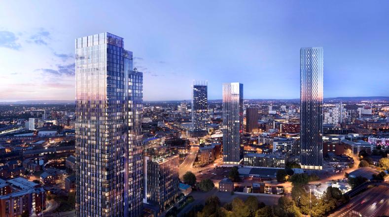 尚选地产推出曼城CBD摩天公寓 开盘首月已售200套