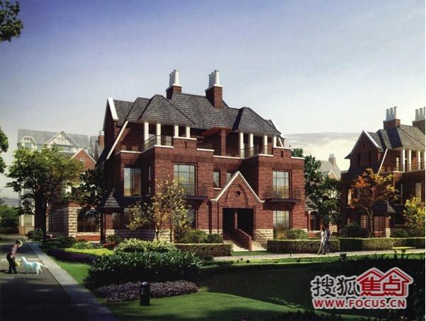 坐拥山林的英伦风格,褐色红砖,斜坡屋顶,整齐青瓦无处不在……高新区