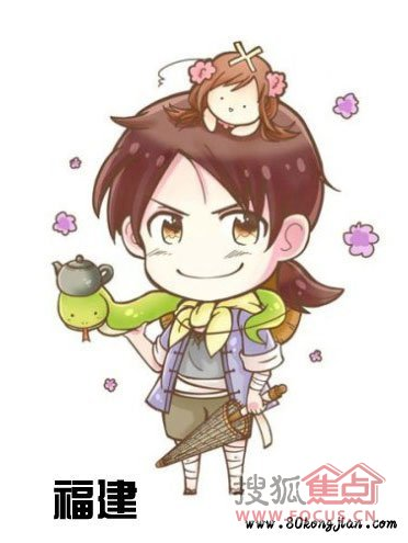 可爱头像小朋友喝茶