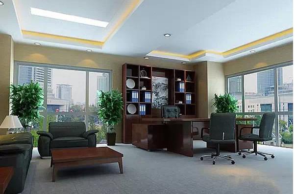 最实用的十款老总办公室背景墙装修设计效果图图片