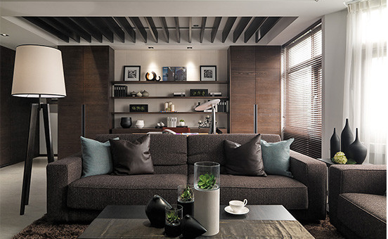 浓郁中式风 在家享受完美书香空间