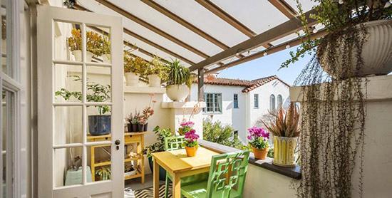 在家喝起下午茶 半开放式阳台装修图