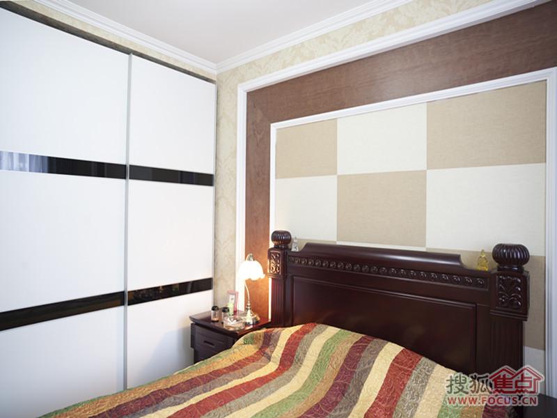 108平米简欧风格两居室装修完工实景照 欧式装修借鉴 高清图片
