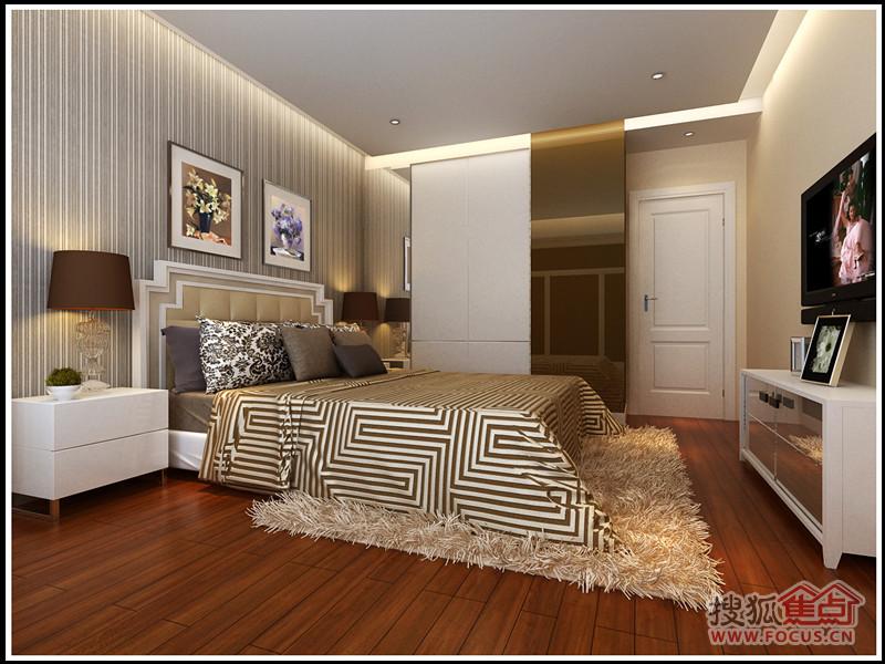 推荐润枫领尚业主90平米紧凑实用三居室现代温馨装修效果图 高清图片