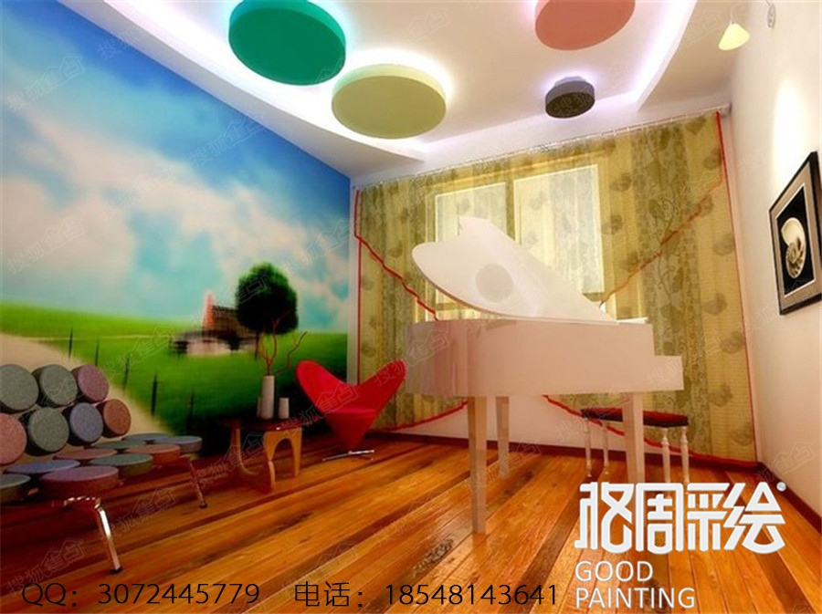 主题酒店宾馆手绘墙 墙体彩绘图片