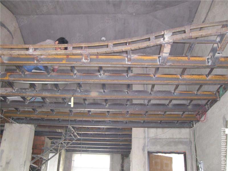 北京密云阁楼搭建公司专业做室内挑高夹层钢结构二层平台