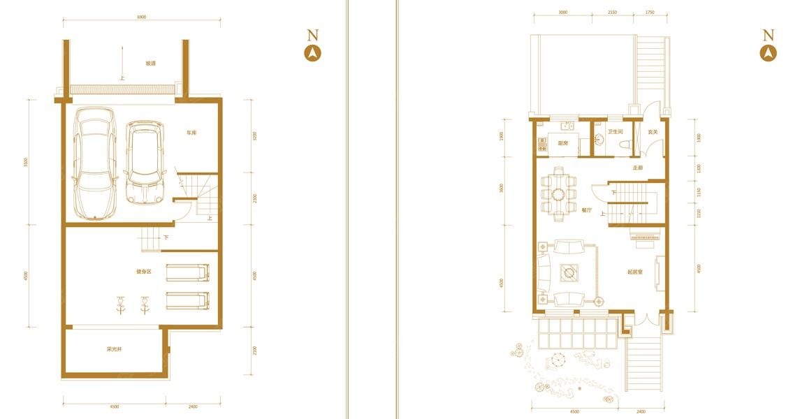 二室一厅电路布线图例