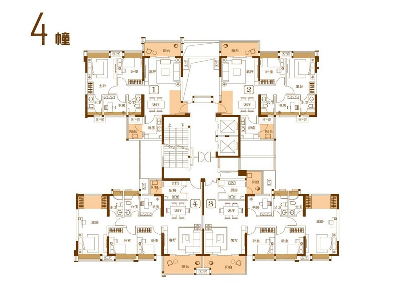 2期4栋楼层平面图