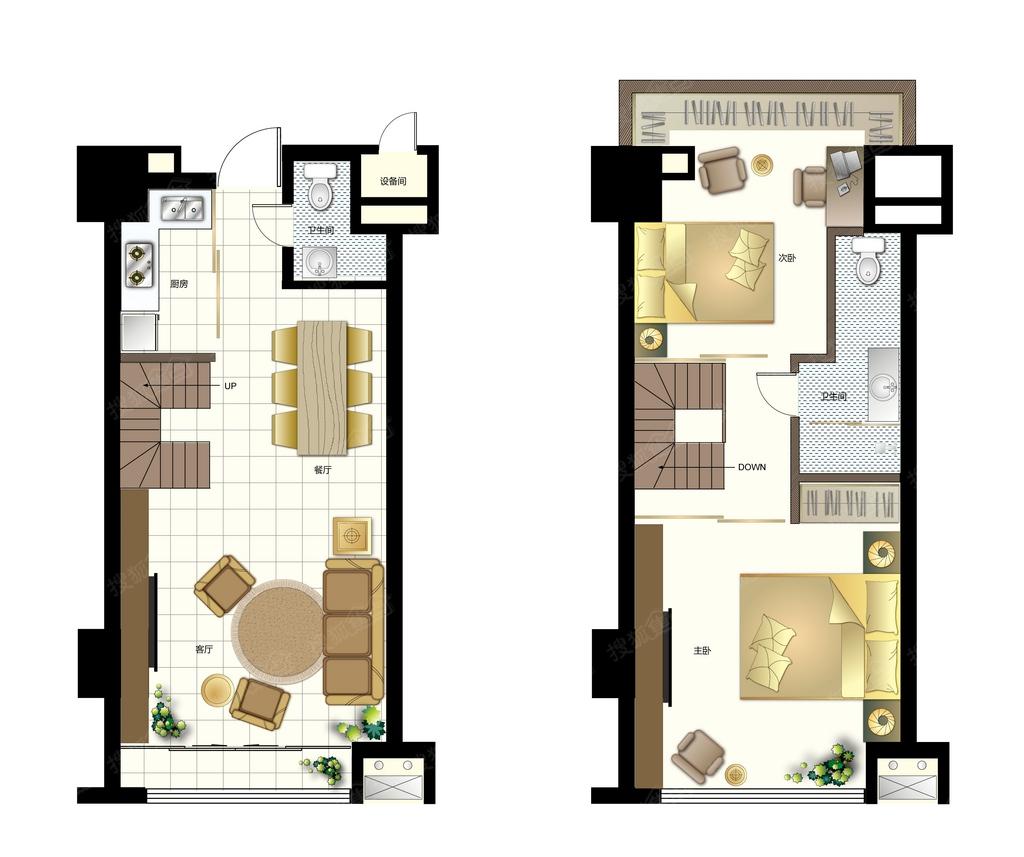 蔚来城二期御墅二居室3loft_蔚来城二期御墅户型图