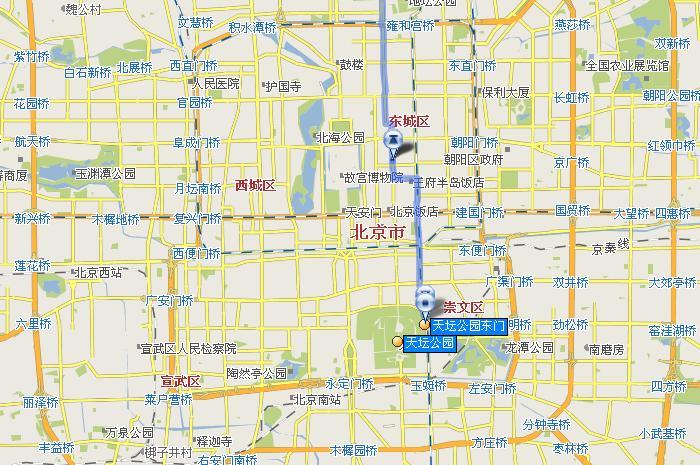 天坛公园手绘地图