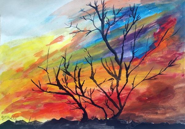 書法 國畫 素描 色彩小學生作品展覽-黃寧書畫室