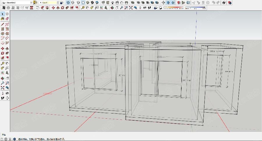 通瑞佳苑3d户型图详细窗户尺寸