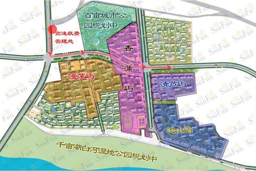 荣盛白鹭岛规划图-北京搜狐焦点网