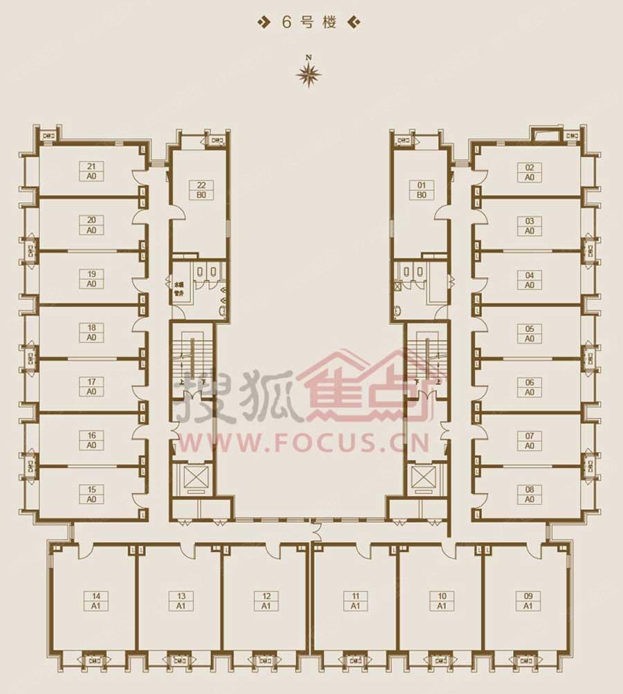 东亚 创展国际6号楼平面图
