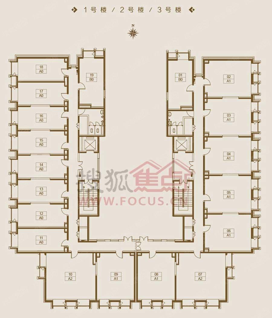 东亚 创展国际1 3号楼平面图