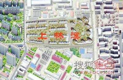 美林香溪同学的上林溪及安宁庄地区的三维地图