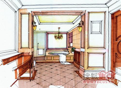 润园精美室内手绘图