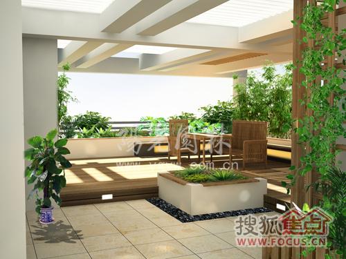 别墅庭院,屋顶花园设计 北京阳光园林
