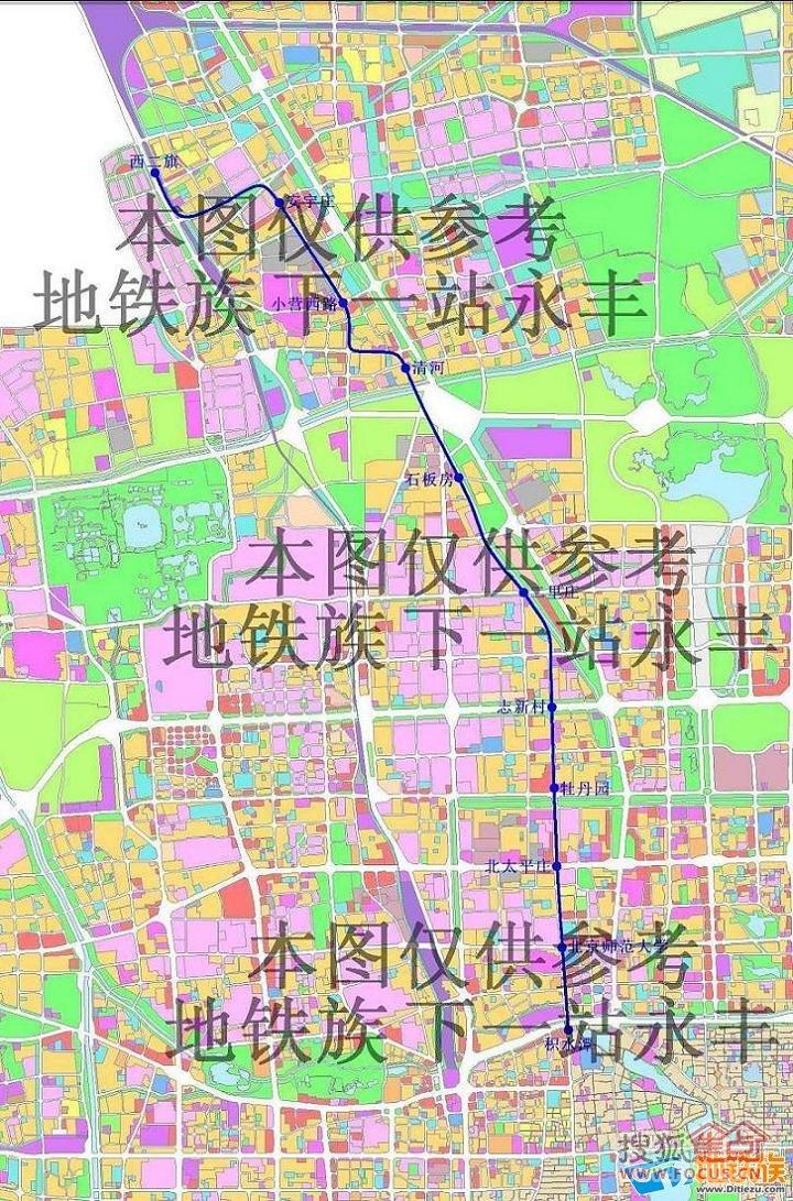 图地铁16号线新规划图昌平线南延的远期-当城市