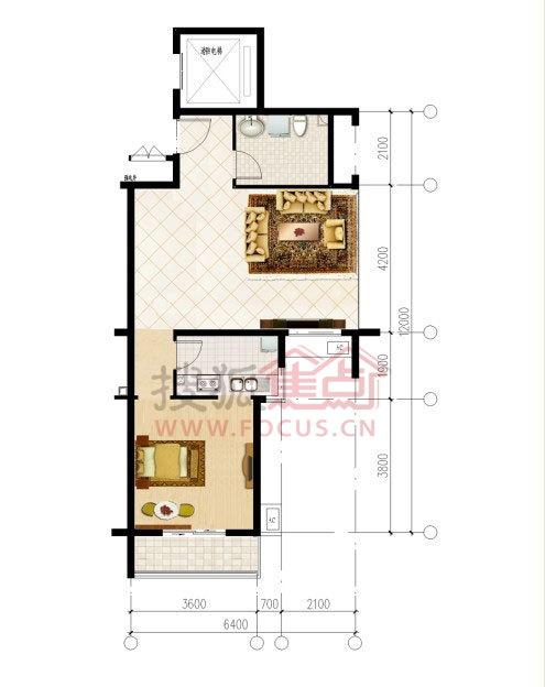 10-12号楼为18层塔楼,一梯2户和两梯6户, 户型为76平方米一居,77-93
