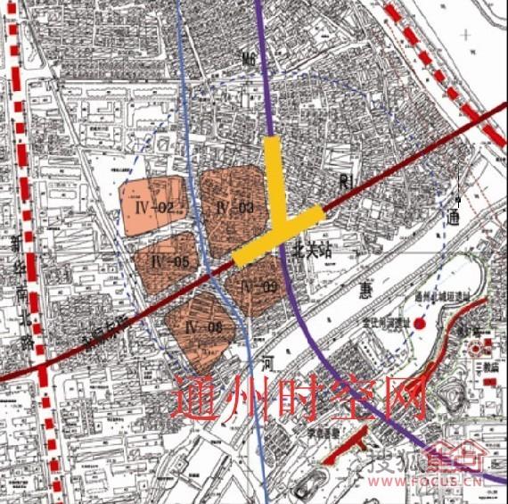 地块控规图 地铁R1及M6线 京贸国际城业主论坛图片