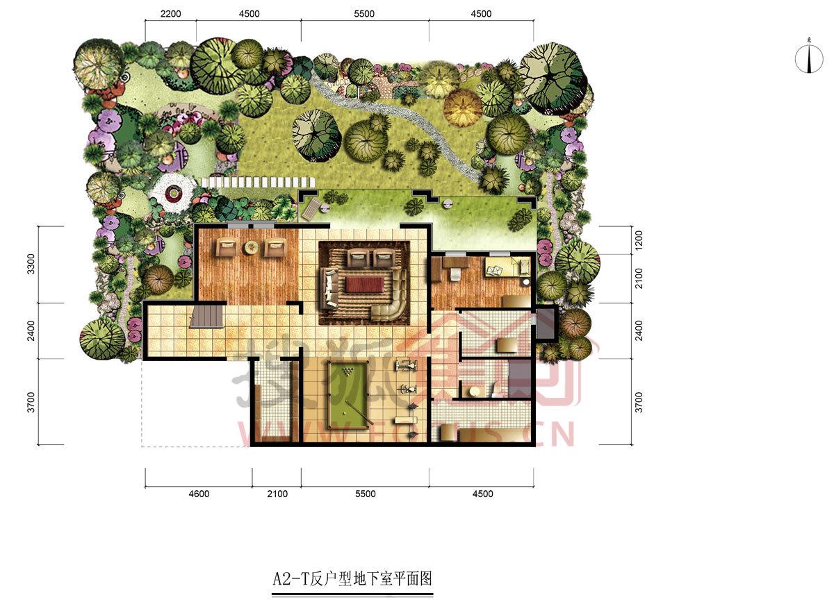 昌平公园立面图手绘