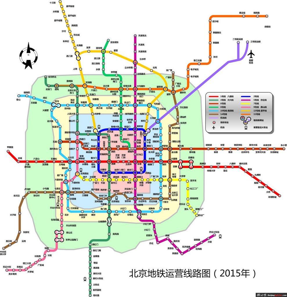 北京地铁规划图