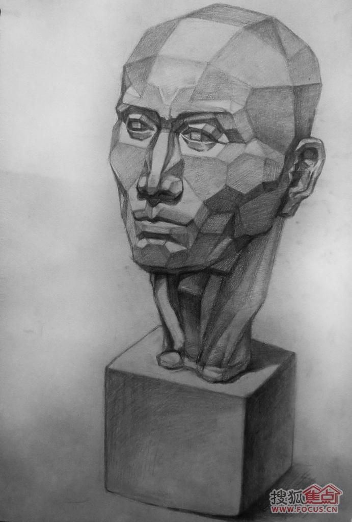 10岁 素描石膏像