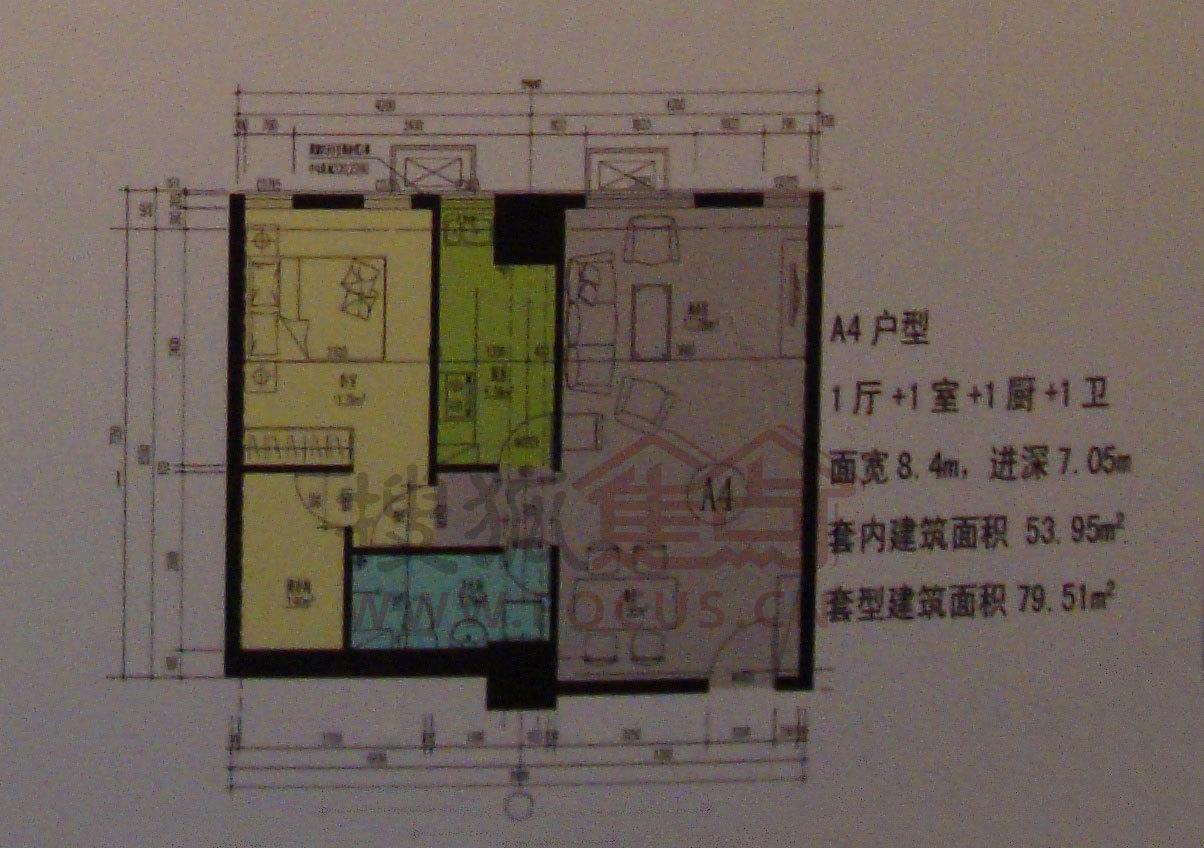 香江北岸(公租房)户型图