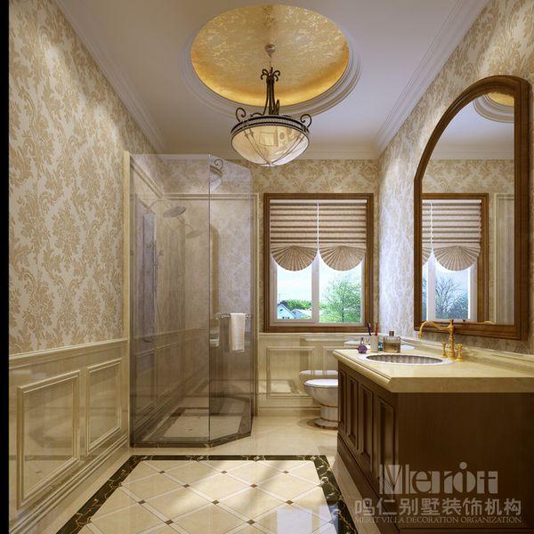 简约而不简单,欧式风格的吊灯和圆状金箔吊顶的结合使人仿佛沐浴在一图片
