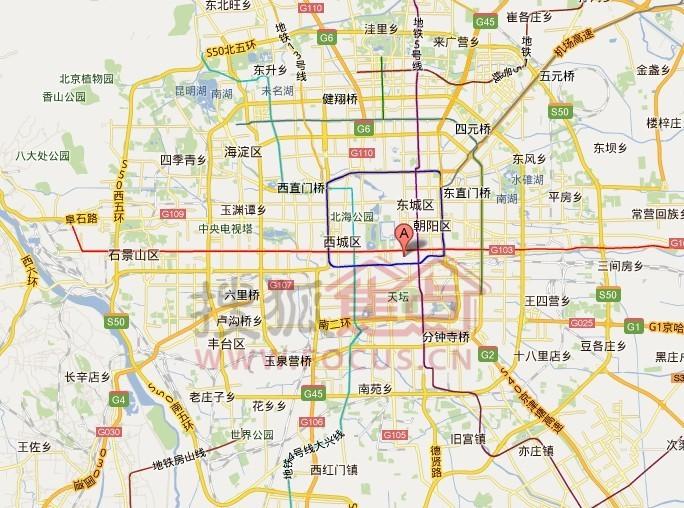 贴个多伦多和北京市区的对比图