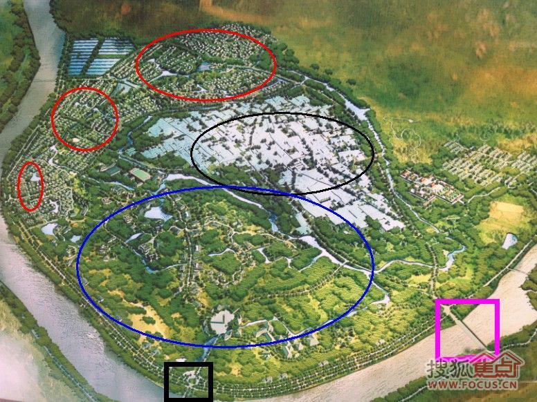 什川镇生态旅游园区梨花岛规划鸟瞰图首度曝光