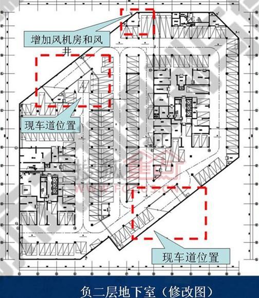 增加自行车坡道.2、地下室调整汽车坡道,完善设备用房,车位数不图片