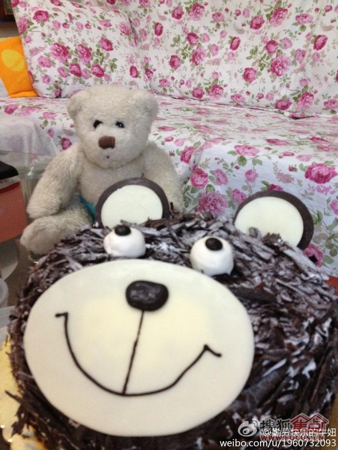 图:特别的送给特别的他:别出心裁的生日礼物--小熊蛋糕