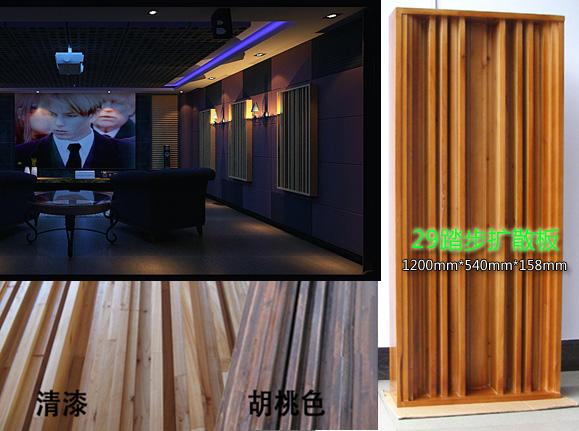 名称:开槽六阶扩散板 规格:600*600*90mm 一般材质为优质天然杉木板