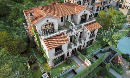 新世界御龙豪园别墅俯视图
