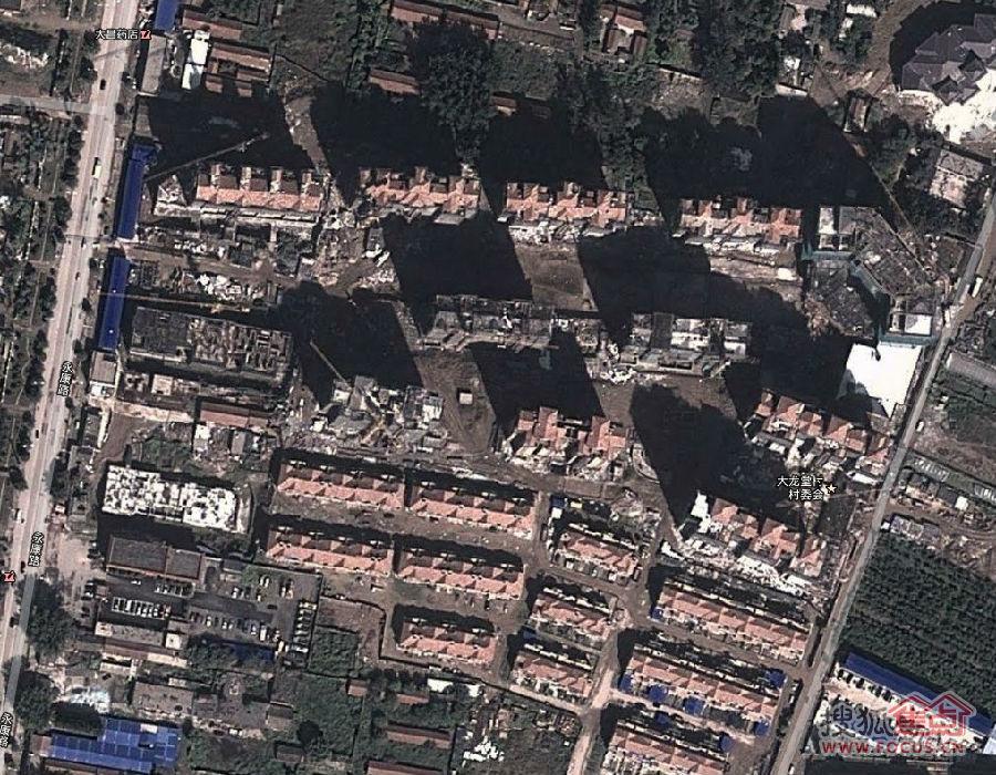 龙town谷歌最新地图,俯视图