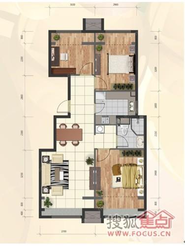 80平米小三居装修很重要 高清图片