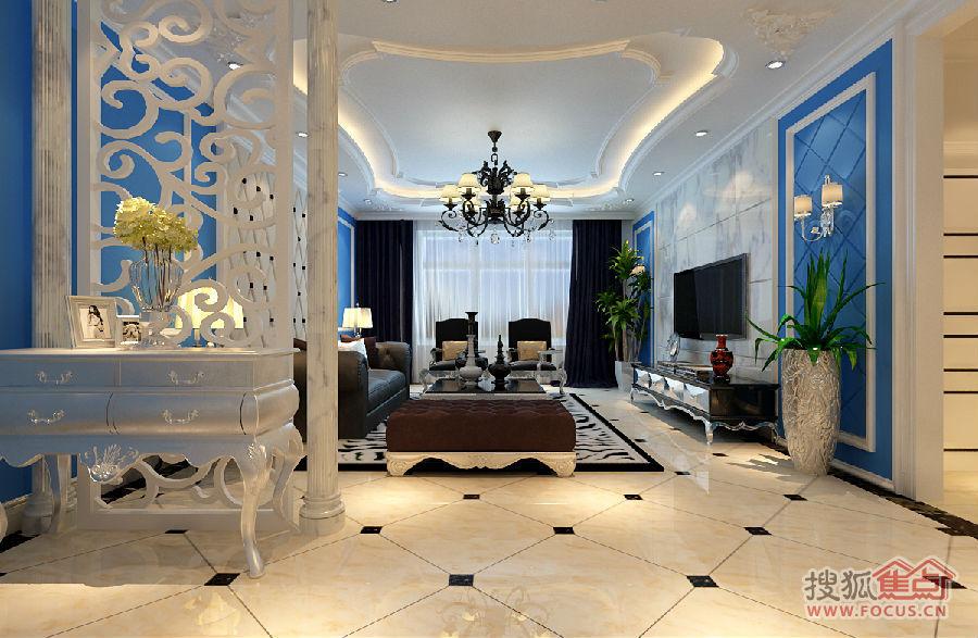 150平现代风格三居室装修设计方案 高清图片