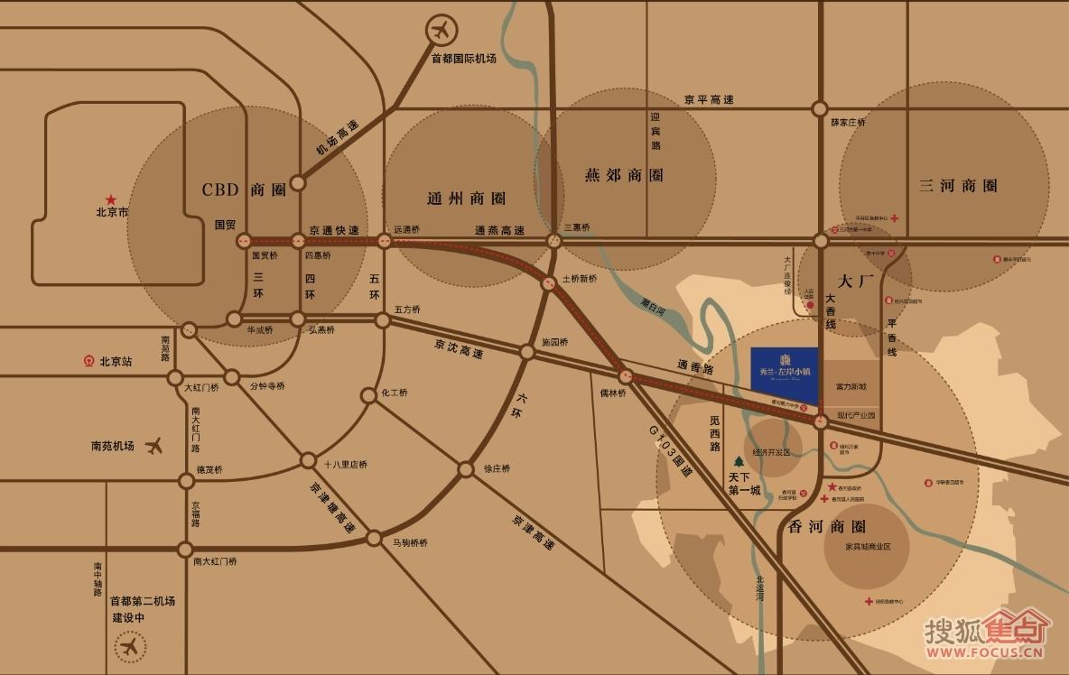 简约手绘小镇地图
