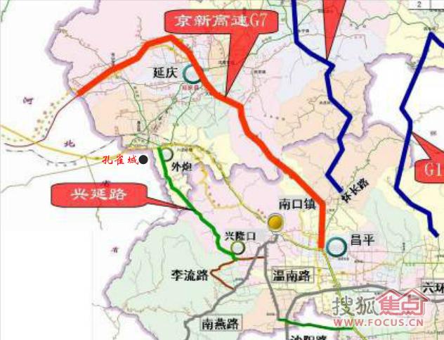 延庆兴延路规划图 京良路规划图 太原东峰路规划图