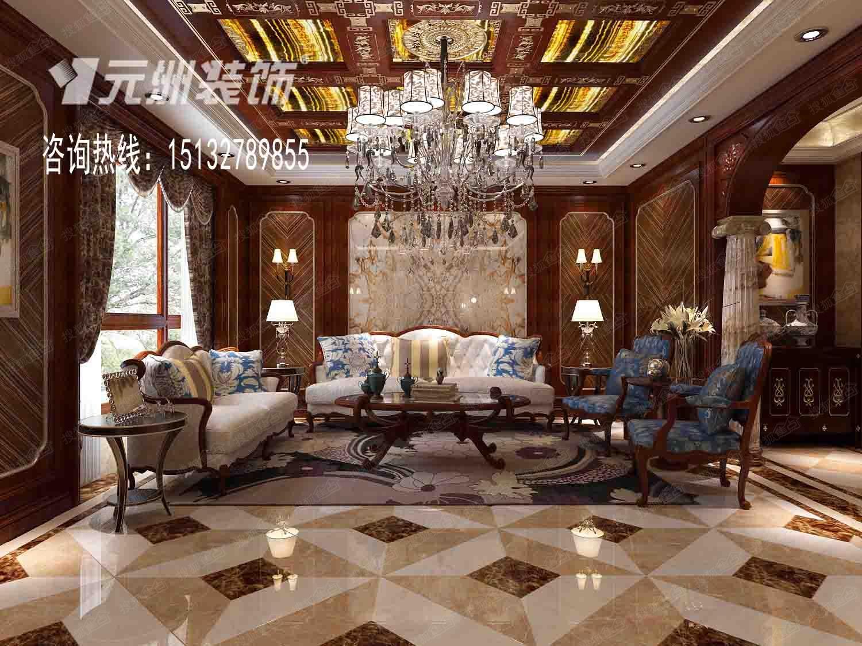 > 一世界洋房400平米欧式古典风格案例   设计说明:新古典主义以尊重图片