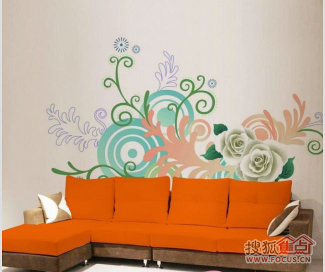 出个性漂亮的手绘墙