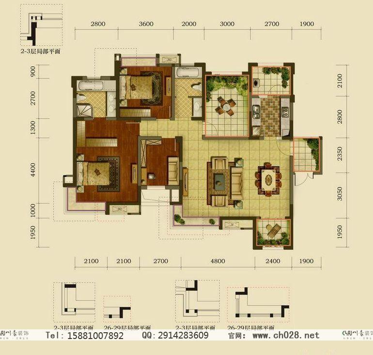 中港城房屋原始结构图