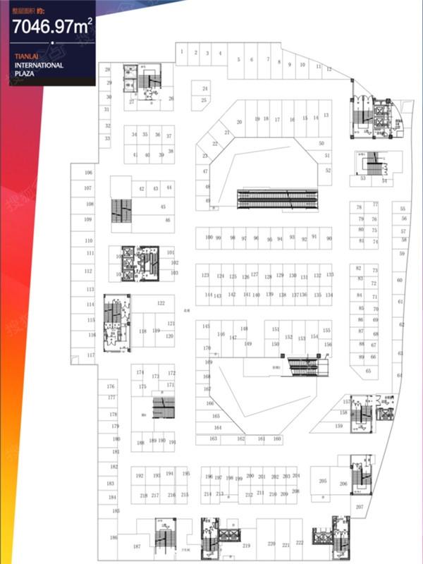 成都天来国际广场商铺4f户型图-0室0厅0卫-7046m