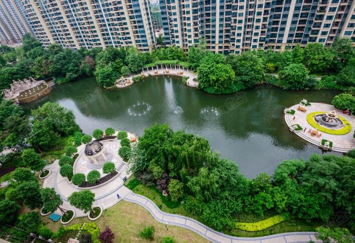 恒大御景半岛园林俯瞰实景图图片