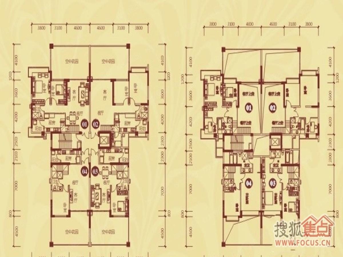 恒大御景半岛楼盘楼层平面图