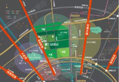 三环和中环:是成都主城区各区域无缝衔接的快速交通,能够充分与主城区图片