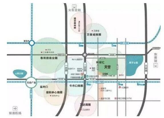 """> 成都最新交通网规划,地铁沿线公寓成""""香饽饽""""   *上图为成都主城区图片"""