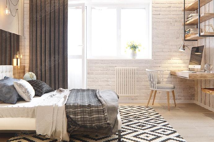 白色基调 木质家具和装修材料
